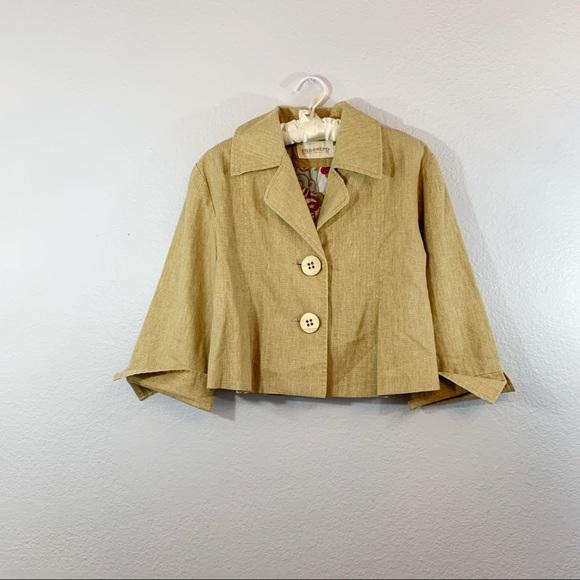 Maestro Cropped Linen Blend Jacket